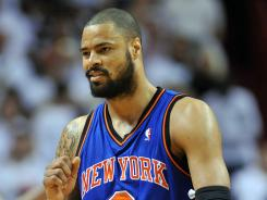New York Knicks center Tyson Chandler has been named the NBA's Defensive Player of the Year.