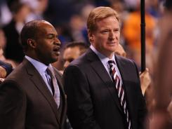 Union head DeMaurice Smith, left, plans to appeal Bountygate player suspensions; NFL Commissioner Roger Goodell doesn't figure to overturn himself.