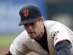 Conor Gillaspie,making a stop Thursday, has little big-league experience, but Pablo Sandoval's injury has the Giants banking on him.