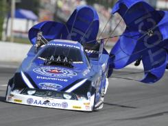 Robert Hight earned the top spot in Saturday's qualifying for the fourth time this season. He'll be looking for his fifth Funny Car victory in seven races on Sunday at the NHRA Southern Nationals.