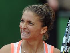 Sara Errani, shown here last month in Barcelona, earned her third title of the year Saturday in Budapest.