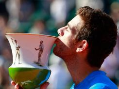 Juan Martin Del Potro of Argentina earns his second consecutive title at the Estoril Open, defeating Richard Gasquet of France in the final Sunday.