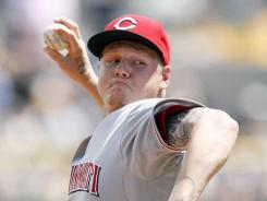 Reds' Mat Latos struck out 11 Pirates in just six innings.