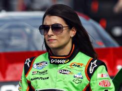 Danica Patrick, pictured, and Sam Hornish Jr. have exchanged apologies over their scrape at Talladega Superspeedway.