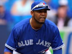 Toronto Blue Jays slugger Edwin Encarnacion is on an early pace to top his career high of 26 home runs.