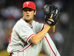 Phillies pitcher Cole Hamels didn't have an excuse for hitting Nationals rookie Bryce Harper in the back with a pitch Sunday night. 'I was trying to hit him,' Hamels said.