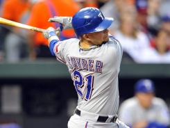 Brandon Snyder had a career-high six RBI as the Rangers won for the second time in six games.