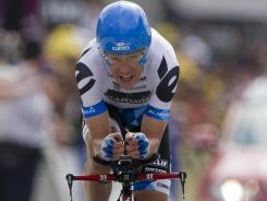 Tom Danielson, here in the 2011 Tour de France, has performed much better since having surgery on his eyes in December 2010.
