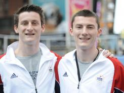 Brothers Jeffrey and Steven Gluckstein (l-r) are competing against each other for the United States' one trampoline spot at the London Games.