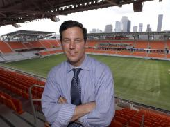 This April 27 photo shows Houston Dynamo President of Business Operations Chris Canetti posing inside the Houston Dynamo's BBVA Compass Stadium.
