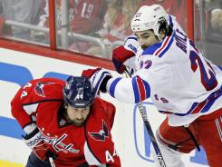 Washington Capitals defenseman Roman Hamrlik has a plus-8 rating during the playoffs.