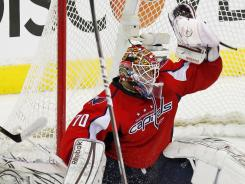 The Washington Capitals will need another strong performance by goalie Braden Holtby in Saturday's Game 7.
