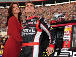 Jeff Gordon and his wife, Ingrid Vandebosch, have two young children.