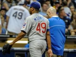 Chicago Cubs pitcher Carlos Marmol went on the disabled list with an injured hamstring.
