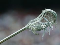 Lacrosse stick typical of one used by college players.