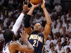 David West scored 17 points for the Pacers, but had just two in the fourth quarter.