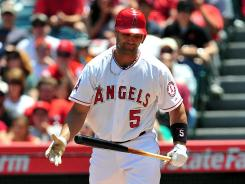 Angels newcomer Albert Pujols has just one home run on the season.