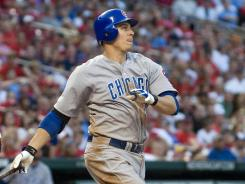 Cubs first baseman Bryan LaHair hit a two-run home run in the fifth inning against the Cardinals on Monday night.