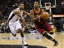 Cavaliers guard Kyrie Irving (2) lead all rookies — and the Cavs — in scoring with 18.5 points per game.