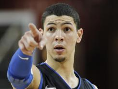 Austin Rivers played for one season at Duke and led the Blue Devils in scoring. He declared for the NBA draft and is a projected first-round pick.
