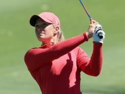 Suzann Pettersen of Norway is the defending champion this week in the Sybase Match Play Championship.