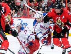 New York Rangers defensemen Ryan McDonagh (27) and Daniel Girardi (5) are the top two shot-blockers in the NHL playoffs.