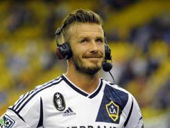 Los Angeles Galaxy midfielder David Beckham (23) after the game against the Montreal Impact at the Olympic Stadium in Montreal on May 12. The teams tied 1-1.