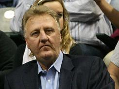 Indiana Pacers president Larry Bird was named the NBA's executive of the year, with his team still very much alive in the playoffs, tied at 1-1 with the Miami Heat.