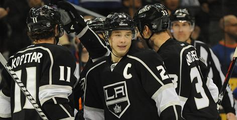 Right wing Dustin Brown, shown April 2, paces the Kings in postseason scoring with seven goals and seven assists.