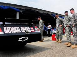 The National Guard has been a big sponsor for NASCAR's most popular driver, Dale Earnhardt Jr.