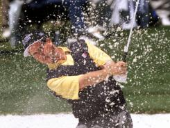 Glen Day, shown here at the 2000 Masters, is the last player to be penalized a stroke for slow play. It came in 1995.