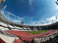 A general view of the interior of Olympic Stadium show on May 8 in preparation for the 2012 London Games.