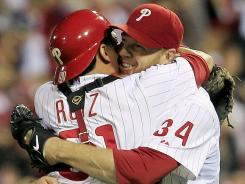 Viewers who don't subscribe to MLB Network will miss two Division Series games in 2012 and 2013 and could miss moments like this one — Philadelphia's Roy Halladay notched a no-hitter vs. Cincinnati in the NLDS in 2010.