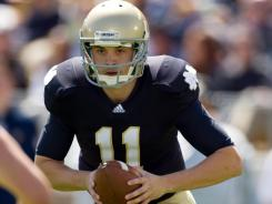Police used pepper spray to subdue Notre Dame quarterback Tommy Rees at a party early this month.