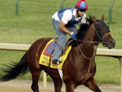 Went the Day Well, with exercise rider Zeke Castro in board, finished fourth in the Kentucky Derby and could improve its showing at the Preakness.
