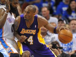 Kobe Bryant scored 20 points for the Lakers, but he shot 9-for-25 from the field and was 0-for-6 from three-point range.