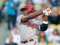Diamondbacks right fielder Justin Upton hit a two-run home run to put his team on top in the ninth inning.