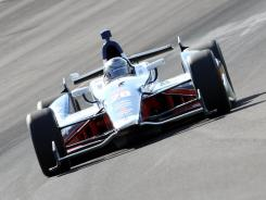 Marco Andretti drives during Friday's practice at Indianapolis Motor Speedway.