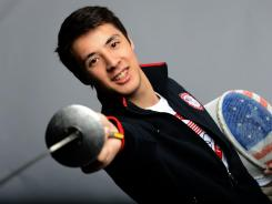 Alexander Massialas, here posing at the U.S. Olympic Committee Media Summit on May 13, will make his Games debut in London.