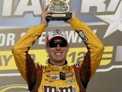 Kyle Busch will start on the pole for Saturday night's Sprint All-Star Race, which pays the winner $1 million.