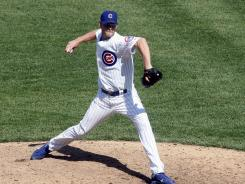 Kerry Wood enters in the eighth inning and strikes out the only batter he faces.