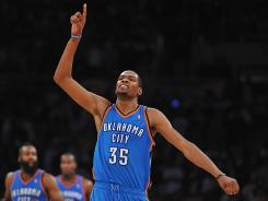 Kevin Durant has the Thunder one win from the Western Conference finals for the second year in a row.