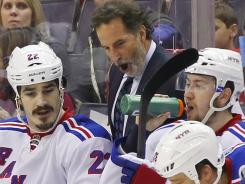 Rangers coach John Tortorella was upset that some Devils hits didn't merit league reviews.