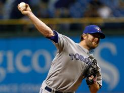 Pitcher Kyle Drabek of the Toronto Blue Jays earned his fourth win of the season and lowerd his ERA to 3.27.