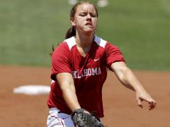 Oklahoma's Keilani Ricketts (31-7) is second in the nation in strikeout ratio, 10.8 per seven innings, and hits allowed, 3.64 per seven innings.