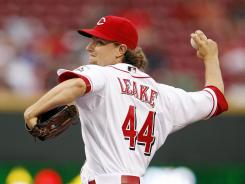 To go along with his solo home run, Mike Leake also pitched eight innings and allowed just two hits.