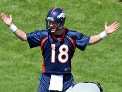 Broncos quarterback Peyton Manning should find his old form in Denver, where he has a 3-0 record.