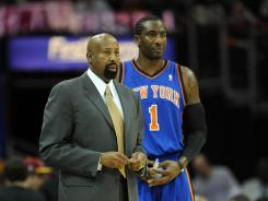 Amar'e Stoudemire, right, is one of the New York Knicks who endorse Mike Woodson as the team's fulltime head coach.