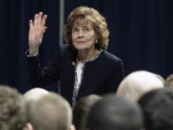 Sue Paterno, wife of former Penn State football coach Joe Paterno, will receive an initial payment of $10.1 million from the school as part of her husband's pension.