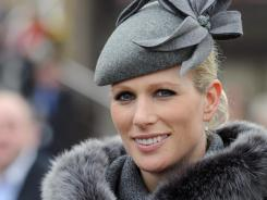 Zara Phillips attends the first day of the Cheltenham Festival horse races on March 13 in Cheltenham, England. She'll carry the Olympic torch while riding her horse Toytown.